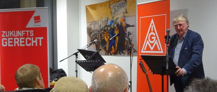 Festveranstaltung der Stuttgarter Gewerkschaften mit Frank Deppe. (Foto: Christa Hourani)