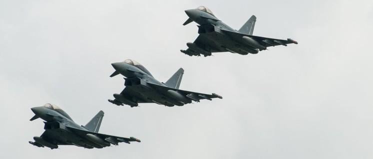 Eurofighter für die Landesverteidigung war gestern – neue Kampfjets für den Angriffskrieg sind in Planung (Foto: bomberpilot / Lizenz: CC BY-SA 2.0)