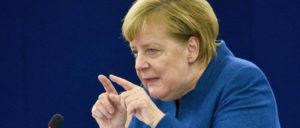Bundeskanzlerin Angela Merkel während ihrer Rede vor dem EU-Parlament (Foto: EP/Geneviève Engel)