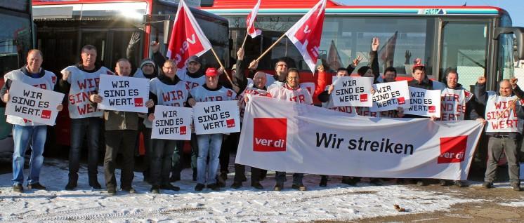 Busfahrerstreik in Limburg (Foto: Stefan Schneider, ver.di-Fototeam Hessen)