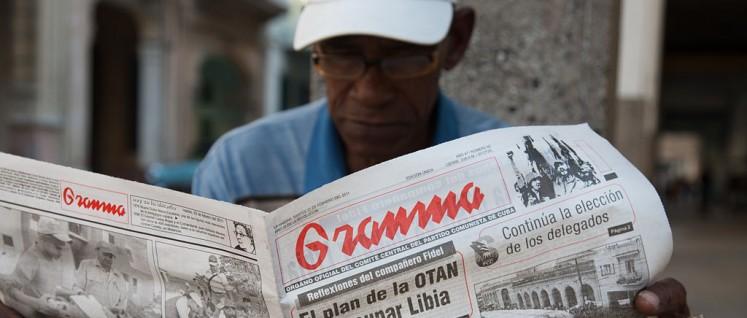 Granma, die größte Tageszeitung Kubas (Foto: [url=https://commons.wikimedia.org/wiki/File:Havana_-_Cuba_-_3155.jpg]Jorge Royan[/url])