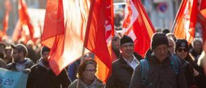 Kiel unter roten Fahnen - seit 100 Jahren kein Thema für die Medien.  (Foto: Ulf Stephan, r-mediabase.eu)