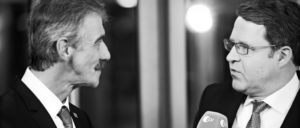 Oberstleutnant Uwe Junge (links), Spitzenkandidat der AfD in Rheinland-Pfalz, im TV-Interview. (Foto: Olaf Kosinsky/Skillshare.eu/CC BY-SA 3.0 DE)