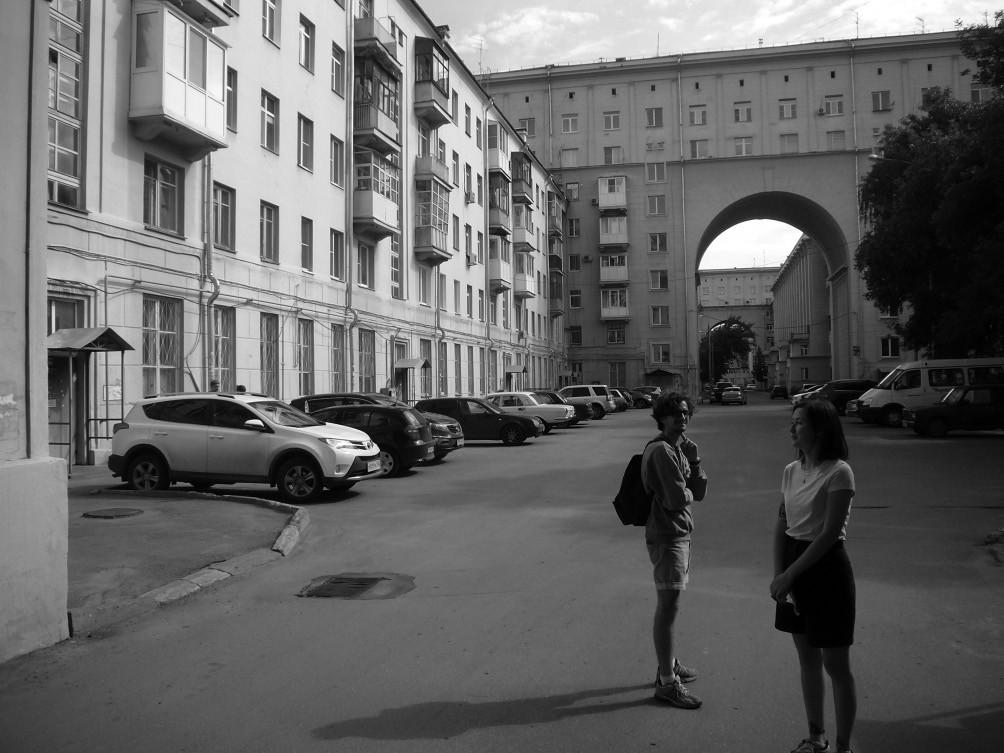 Busygin-Wohnanlage Sozgorod Awtozawod Nischni-Nowgorod, Architekt Ilja Golosow (1938)