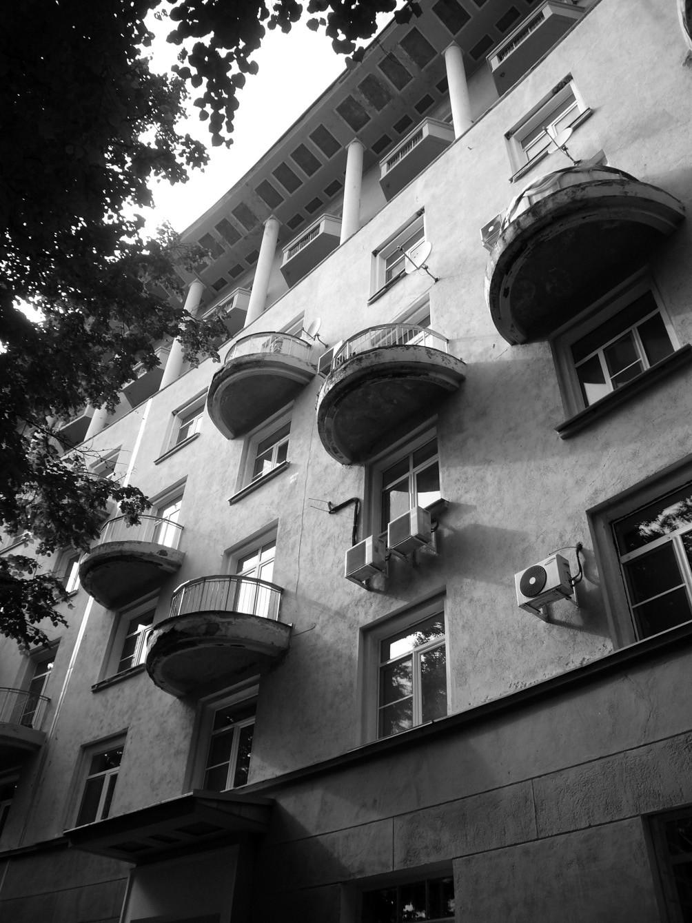 Palusnii Dom – Wohnanlage Sozgorod Awtosawod Nischny Nowgorod, Architekturbüro Wesnin (1937)