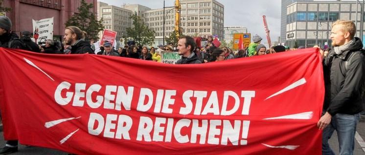 Protest gegen den Mietenwahnsinn in Berlin                          (Foto: Rudi Denner / r-mediabase.eu)