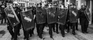 Die Polizei bahnte den Rechten den Weg – WOW-Aufmarsch und Gegenproteste am 20. Juni (Foto: Christian Martischius/r-mediabase.eu)