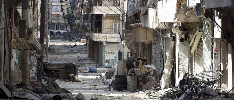 Blick ins zerstörte Aleppo (Foto: Freedom House, flickr.com, CC BY 2.0)