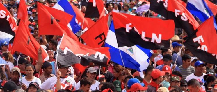 Kundgebung zum 40. Jahrestag des Siegs der Sandinistischen Volksrevolution in Managua (Foto: Soy Sandinista)