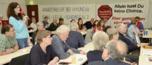 Auf der Konferenz kamen aktuelle Beispiele der Betriebsrats- und Gewerkschaftsbekämpfung zur Sprache                          (Foto: IG Metall Mannheim)