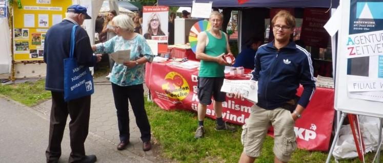 Stand der DKP auf dem Nürnberger Südstadtfest (Foto: Ballin)