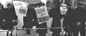 Aktion gegen das drohende Verbot, Karlsruhe 1955 (Foto: UZ-Archiv)