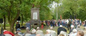 In Stukenbrock liegen 65000 sowjetischen Kriegsgefangenen begraben, nur ein geringer Teil der 3,3 Millionen toten sowjetischen Soldaten überhaupt. (Foto: Bettina Ohnesorge)
