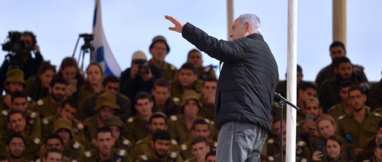 Benjamin Netanjahu hetzt Israels Armee auf das Nachbarland im Norden. (Foto: Kobi Gideon, GPO)