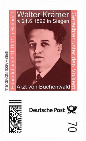 Briefmarke Walter Krämer - Arzt von Buchenwald