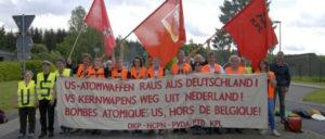 2016 demonstrierte die DKP mit ihren drei Schwesterparteien NCPN, PTB und KPL in Büchel (Foto: Tom Brenner)