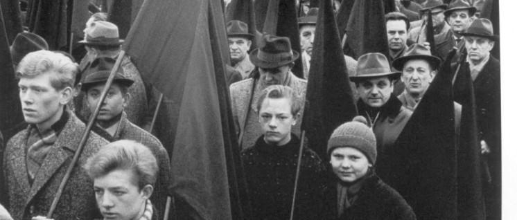 """""""CDU – Zechen zu"""", so hieß es im Mai 1966 in Gelsenkirchen (Foto: Toni Tripp)"""