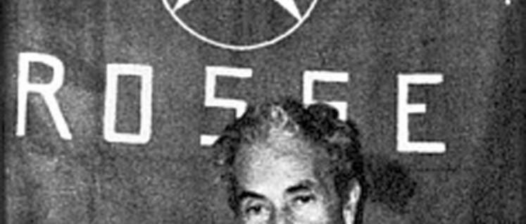 Aldo Moro während seiner Entführung durch die Brigate Rosse (Foto: public domain)