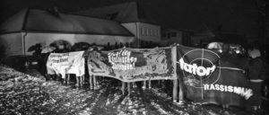20.2.2016 - Clausnitz (Sachsen): Solidaritätskundgebung für die Geflüchteten und gegen den rechten Mob (Foto: Caruso Pinguin/flickr.com/CC BY-NC 2.0)