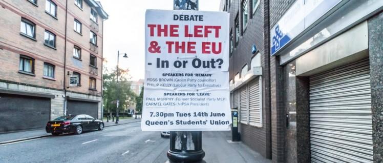 In or out? Die britische Linke ist gespalten. Die Kommunisten haben für einen linken EU-Austritt gekämpft. (Foto: William Murphy/flickr.com/CC BY-SA 2.0/www.flickr.com/photos/infomatique/27752849142)