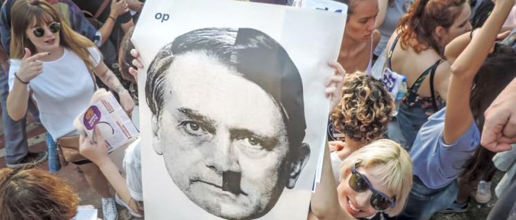 Frauendemo gegen den faschistischen Präsidentschaftskandidaten am 29. September, kurz vor dem ersten Wahlgang (Foto: Jennefer Andrade / Mídia NINJA)