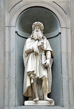 Leonardo-Statue in Florenz