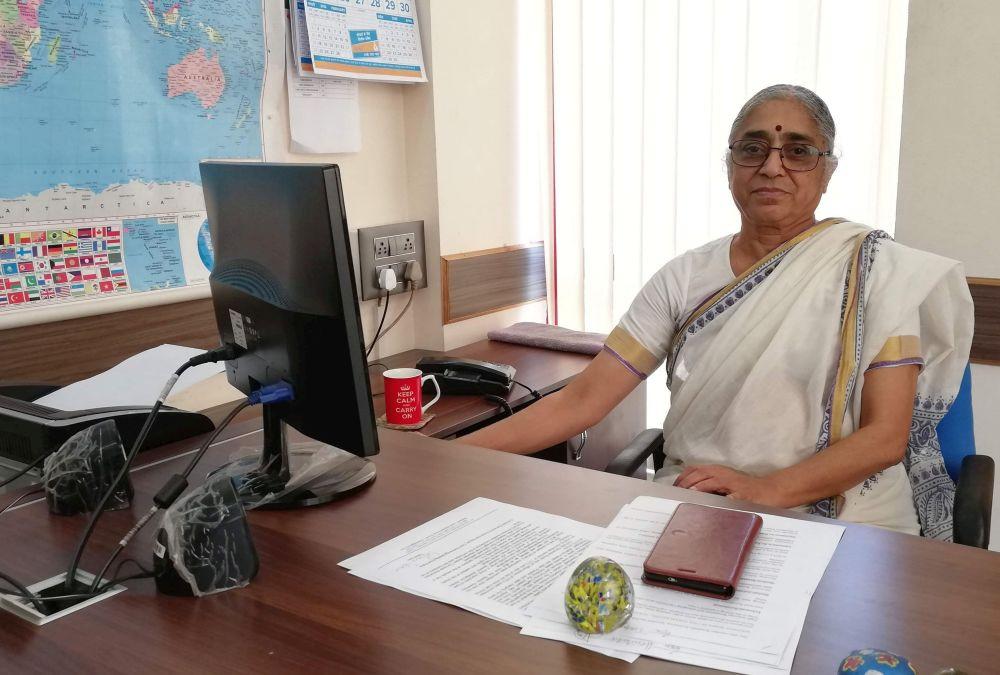 """K. Hemalata, Erste Vorsitzende des indischen Gewerkschaftsbundes """"Centre of Indian Trade Unions"""" (CITU)"""
