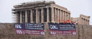 Am 24. Januar  protestierte die KKE auf der Akropolis gegen das Abkommen von Prespes. (Foto: KKE)