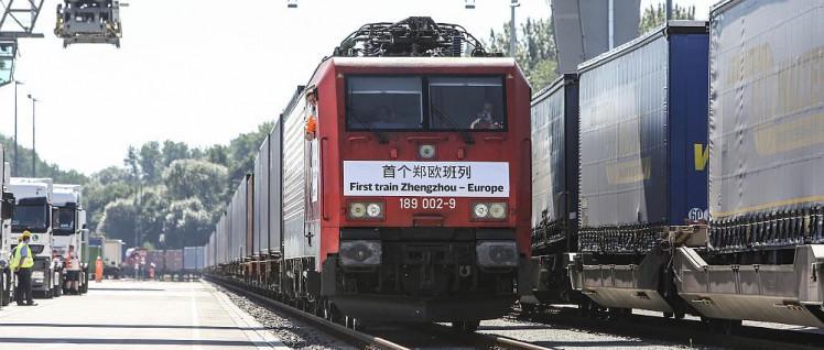 Der erste Güterzug aus Zhengzhou traf 2013 in Hamburg ein. (Foto: Deutsche Bahn AG/Michael Rauhe)