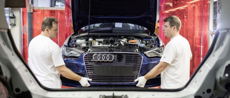 Blick in die Audi-Produktion am Standort Ingolstadt (Foto: AUDI AG)