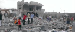 Ein Viertel in Sanaa, in dem über 100 Gebäude durch Bomben beschädigt wurden (Foto: Gemeinfrei)