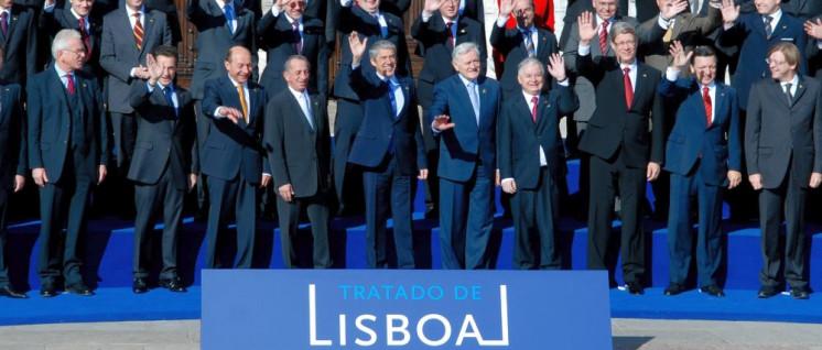 Die Freude bei den Staatschefs war groß, als der Lissabon-Vertrag 2007 unterzeichnet wurde. (Foto: Bruno Portela/EC– Audiovisual Service)