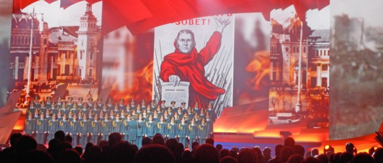 Theaterrevue mit Szenen aus der Oktoberrevolution und den folgenden Jahren. (Foto: Günter Pohl)