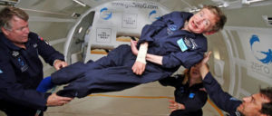 Stephen Hawking schwerelos (Foto: NASA)