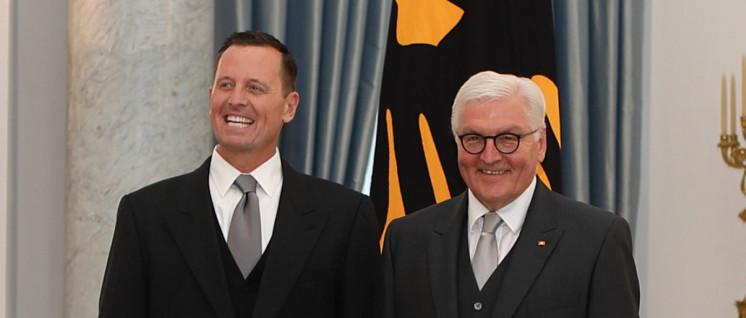 Die Stimmung ist trotzdem gut: US-Botschafter Richard Grenell mit Frank-Walter Steinmeier (Foto: USA.gov)
