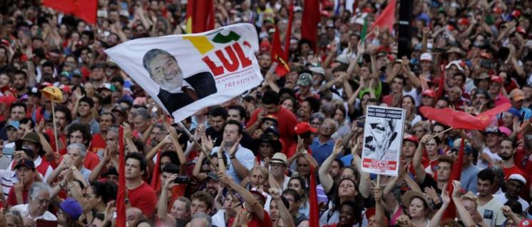Solidaritätsdemonstration mit Lula am 24. Januar 2018 Porto Alegre (Foto: telesur)