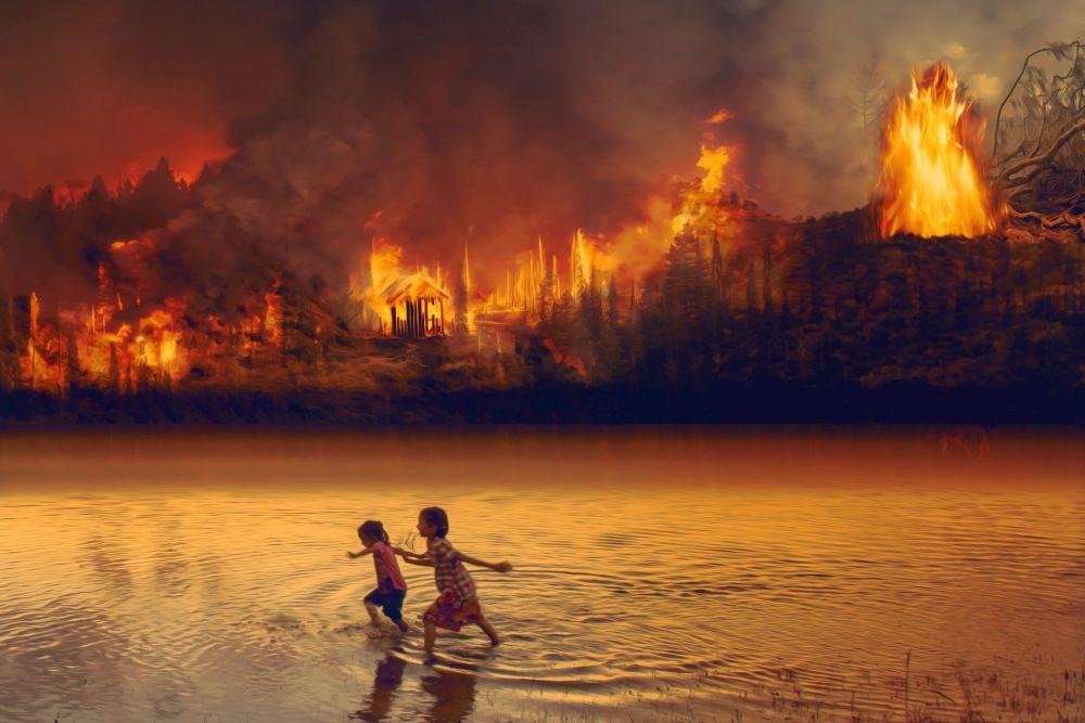 Waldbrand im Amazonasgebiet