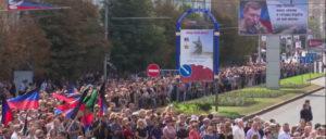 200 000 Menschen nahmen am Sonntag in Donezk Abschied von Alexandr Sachartschenko. (Foto: Oplot.tv)