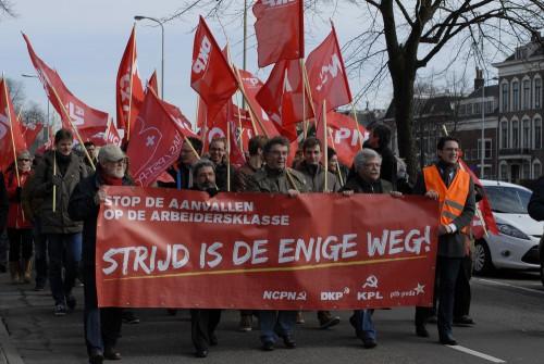 Auftaktdemo zur 4-Parteien-Konferenz in Groningen 2015