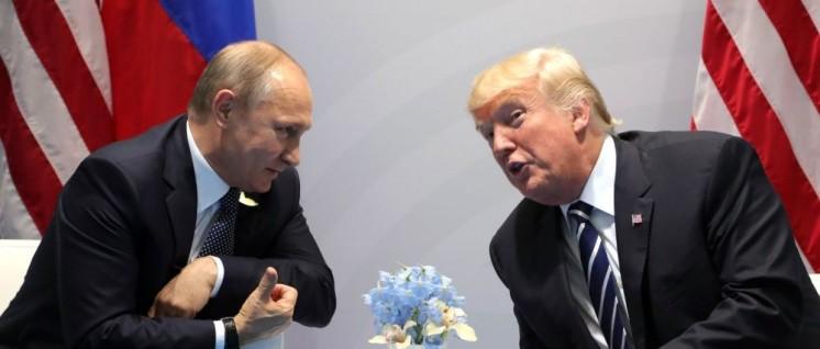 Trafen sich in Hamburg beim G20-Gipfel: Russlands Präsident Wladimir Putin und US-Präsident Donald Trump (rechts). (Foto: kremlin.ru)
