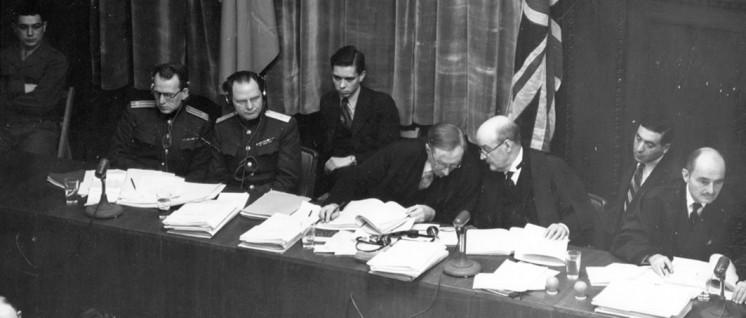 Die Richter und die Ankläger im Prozess gegen die Hauptkriegsverbrecher. (Foto: U.S. Army /wikimedia.org/public domain)