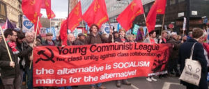 Demonstration der Young Communist League (Foto: YCL)