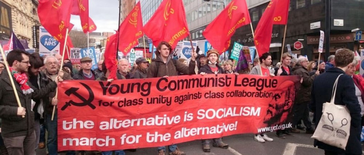 Demonstration der Young Communist League (Foto: YCL)