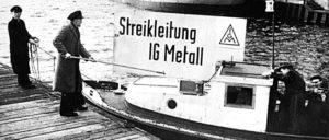 24.10.1956: Beginn des Streiks der Metallarbeiter in Schleswig-Holstein (Foto: IG-Metall Zentralarchiv)