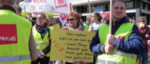 ver.di-Aktiontag in Dortmund im April 2016 (Foto: UZ-Archiv)