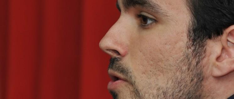 """Das Bündnis mit Podemos sei """"die einzige stichhaltige Strategie"""": Alberto Garzón, Spitzenkandidat der IU. (Foto: Juancamartos/wikimedia.org/CC BY-SA 4.0)"""