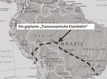 """Die geplante """"Transozeanische Eisenbahn"""""""