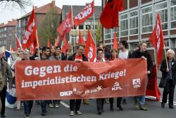 Demonstration vor der Vier-Parteien-Konferenz in Münster 2017