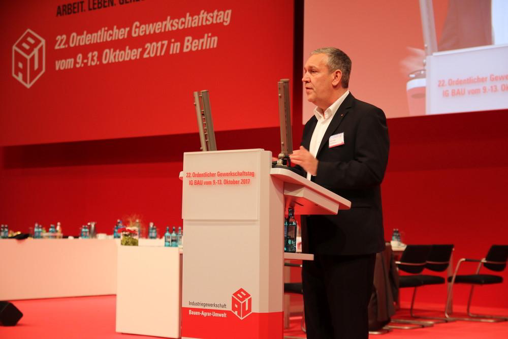 Robert Felger, Bundesvorsitzender der IG Bau