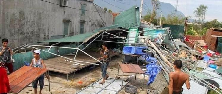 Sturmschäden in Hà Tinh, einer Küstenregion im Norden Vietnams. (Foto: zing.vn)